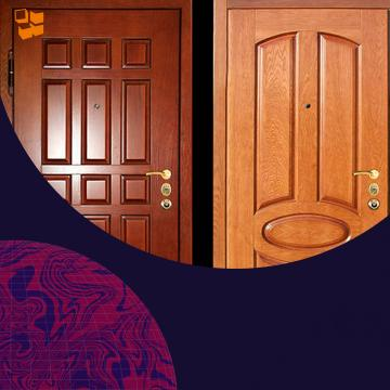 Металлические двери для эстетов: породы деревьев, применяемые для отделки