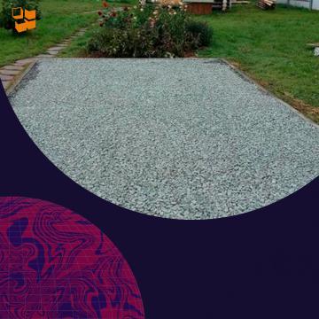 Изготовление щебневой парковки на даче