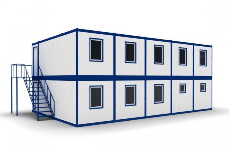 Модульное здание в два этажа (8 блок-контейнеров)
