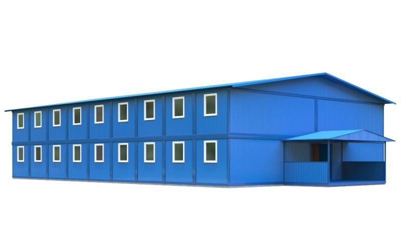 Модульное общежитие со штабом строительства (42 блок-контейнера)